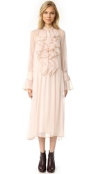 See By Chloe Ruffle Dress Powder