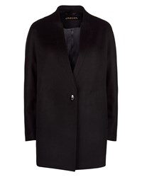 Jaeger Wool Turn Back Lapel Coat Black