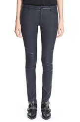 Superfine 'Friend Luxe' Leather Skinny Pants Black