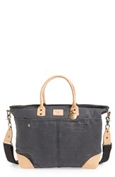 Men's Will Leather Goods Coated Canvas Tote Black