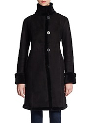 Blue Duck Fitted Shearling Coat Black