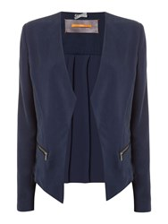 Hugo Boss Ocuty Relaxed Jacket With Zip Detail Navy