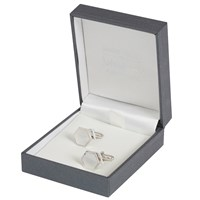 Simon Carter For John Lewis Hexagonal Sterling Silver Mother Of Pearl Cufflinks Silver