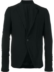 Rick Owens Single Button Blazer Black