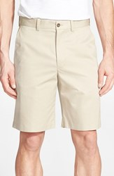 Men's John W. Nordstrom Supima Cotton Flat Front Trouser Shorts Tan