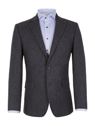 Alexandre Savile Row Formal Donegal Button Blazer Blue