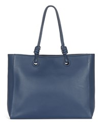 Jaeger Leather Knot Oversized Tote Navy