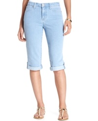 Style And Co. Cuffed Skimmer Jeans Light Blue Wash Asbury