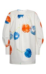 Msgm Mini Long Sleeve Shirt Dress Print