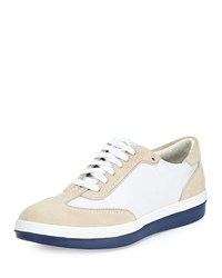 Tommy Bahama Roaderick Suede Canvas Sneaker White