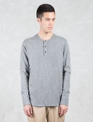 Wings Horns 1 X 1 Slub Rib L S Henley T Shirt