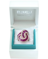 Effy Collection Effy Limited Edition Rosa Ruby 5 1 8 Ct. T.W. And Diamond 1 3 8 Ct. T.W. Ring In 14K Rose Gold Red