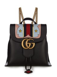 Gucci Gg Marmont Leather Backpack Black Multi