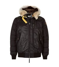 Parajumpers Grizzly Leather Puffer Jacket Male Black