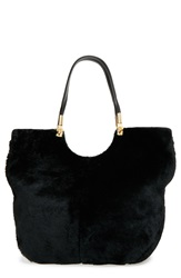 Elizabeth And James 'Cynnie' Convertible Shopper Black