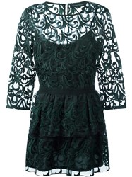 Christian Pellizzari Lace Dress Green