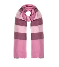 Burberry Shoes And Accessories Sheer Check Scarf Female Pink