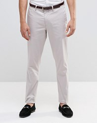 Asos Skinny Smart Chinos In Light Grey Silver Cloud