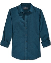 American Rag Men's Lou Solid Long Sleeve Shirt Only At Macy's Crater Lake