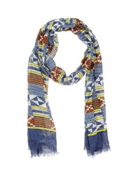 Paolo Pecora Accessories Oblong Scarves Men Blue