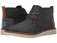 Toms Mateo Chukka Boot Black Chambray Men's Lace Up Boots