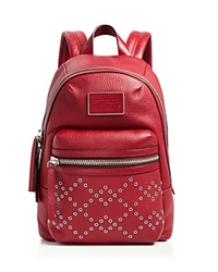 Marc By Marc Jacobs Bloomingdale's Exclusive Domo Biker Grommet Backpack Red Canyon