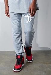 Forever 21 Bass Stripe Sweatpants Grey Black