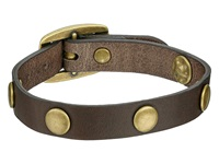 Frye Stud Wrap Cuff Grey Soft Vintage Leather Bracelet Taupe