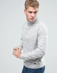 Threadbare Chunky Roll Neck Jumper Grey Black