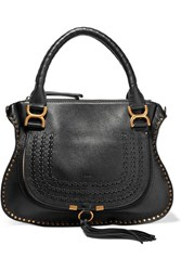 Chloe The Marcie Medium Textured Leather Tote Black