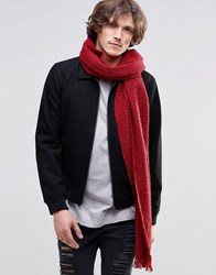 Scotch And Soda Scotch And Soda Boucle Scarf Red