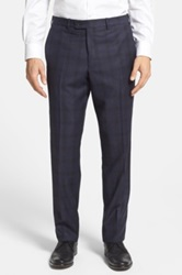 Duckie Brown Gentlemen Flat Front Wool Check Trouser