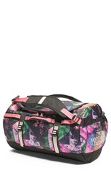 The North Face 'Base Camp' Duffel Bag Pink Double Take Print Pink