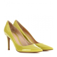 Gianvito Rossi Patent Leather Pumps Lime