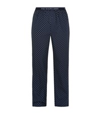 Ralph Lauren Diamond Print Lounge Trousers Male Navy