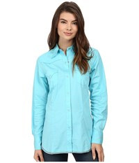 Roper 00456 Solid Poplin Aqua Blue Women's Clothing