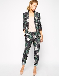 Stylestalker Motel Summer Trouser In Tropical Print Multi