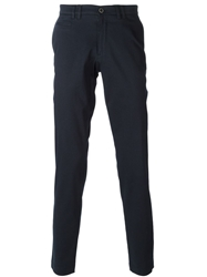 Sand Slim Fit Printed Trousers Blue