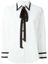 Marc Jacobs Contrast Frayed Trim Shirt White