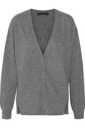 Alexander Wang Wool And Cashmere Blend Cardigan Charcoal