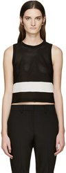 Rag And Bone Black And White Knit Valerie Tank Top