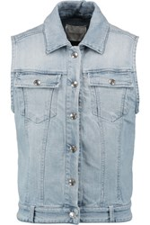 Balmain Pierre Embellished Denim Jacket Light Denim