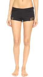 Only Hearts Club Luxe Lace Sleep Shorts Black Black