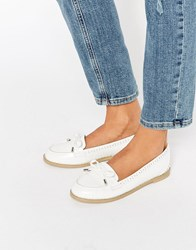 Asos Monthly Flat Shoes White