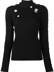 Preen By Thornton Bregazzi Embellished Ribbed Jumper Black