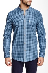 Ben Sherman Checked Summer Long Sleeve Shirt Blue