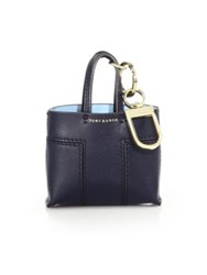 Tory Burch Mini Block Tote Key Fob Tory Navy