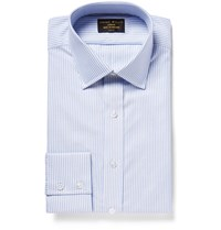 Emma Willis Blue Bengal Striped Cotton Oxford Shirt Blue