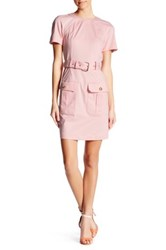 Love Moschino Belted Short Sleeve Dress Pink