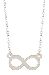 Kris Nations Sterling Silver Plated Infinity Charm Necklace Metallic